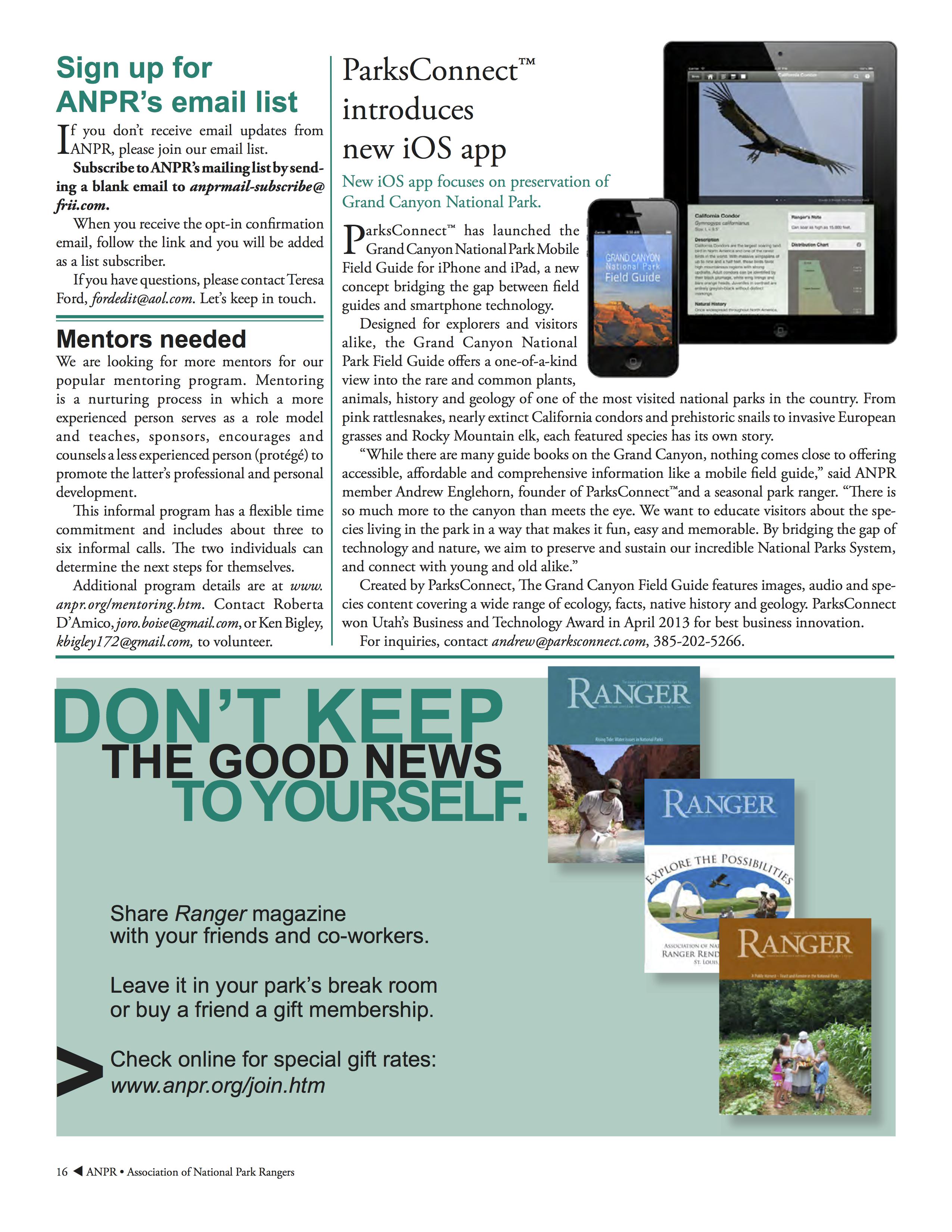 Ranger Magazine Article